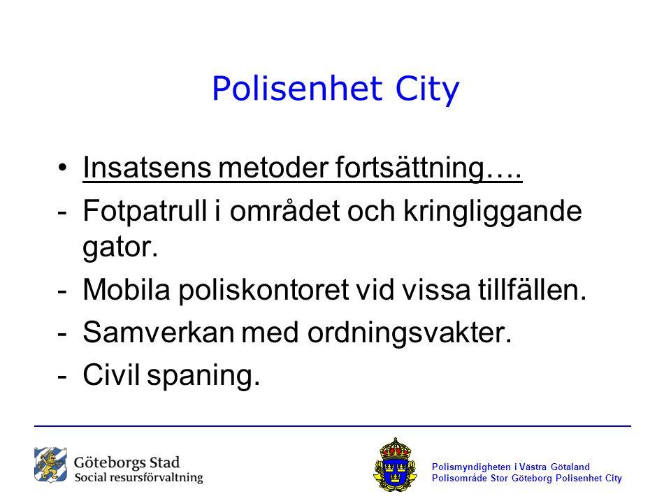 Polisenhet City Insatsens metoder fortsättning….