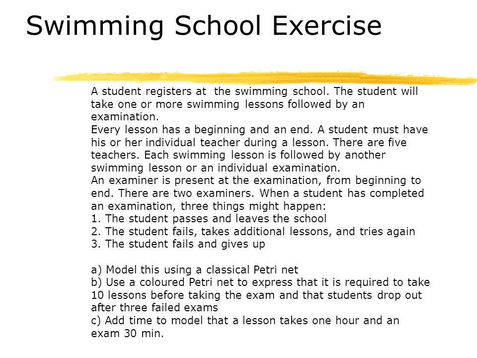 Swimming School Exercise