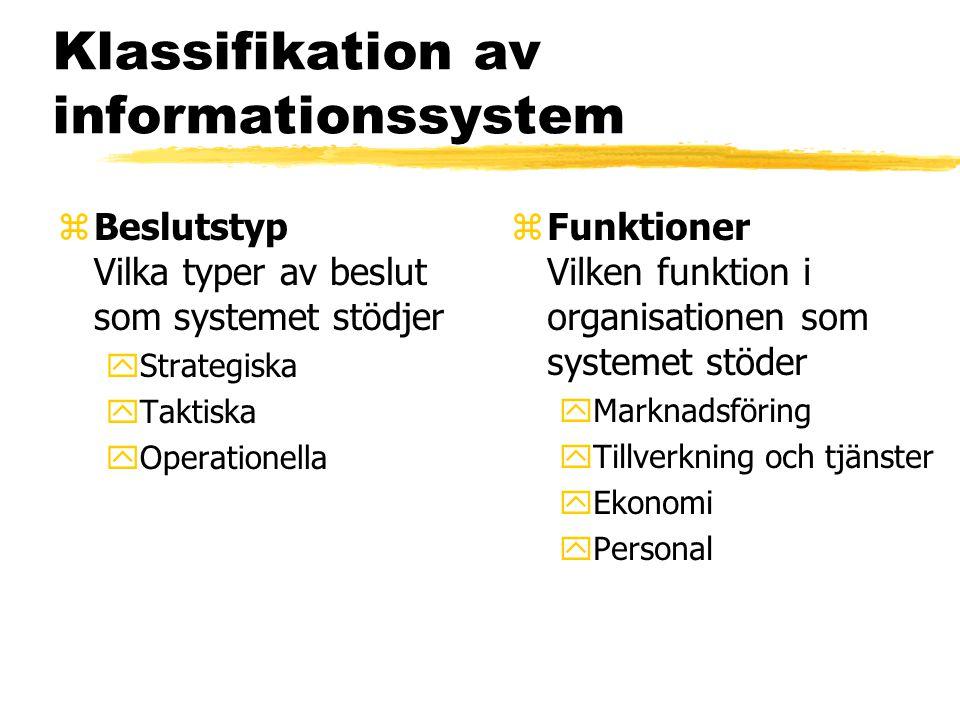 Klassifikation av informationssystem