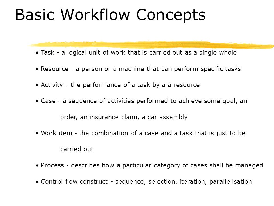Basic Workflow Concepts
