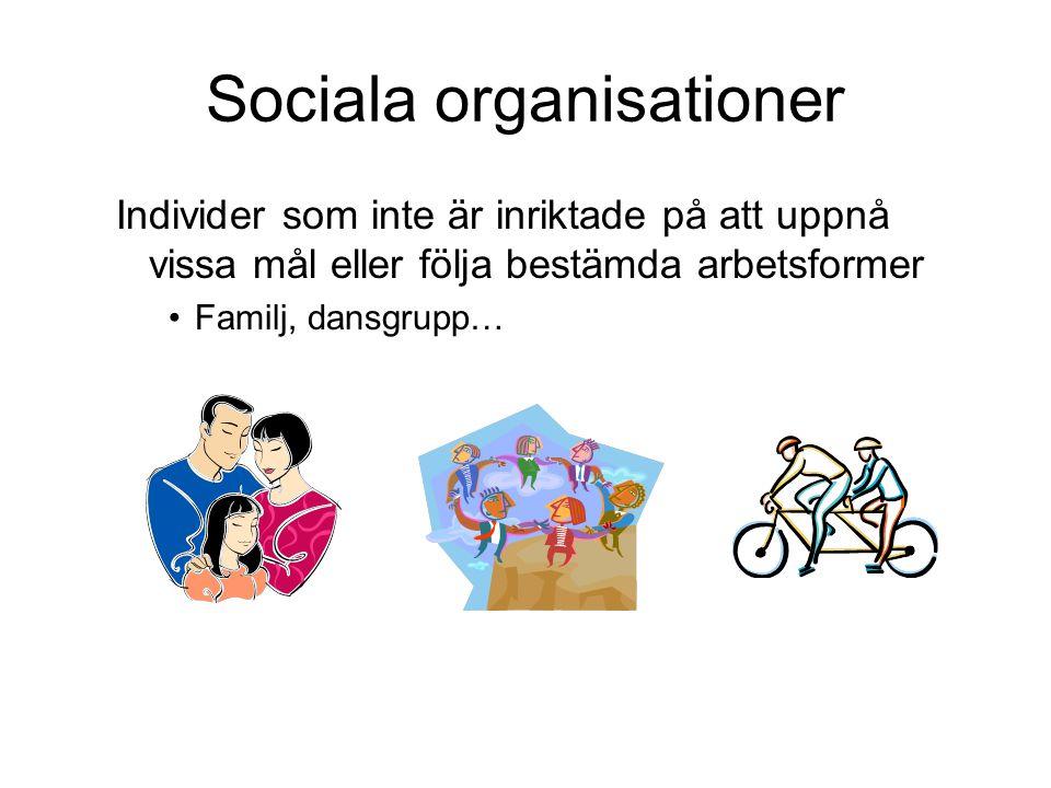 Sociala organisationer
