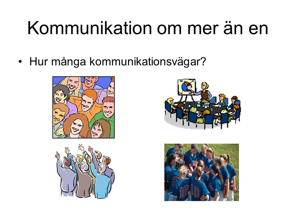 Kommunikation om mer än en