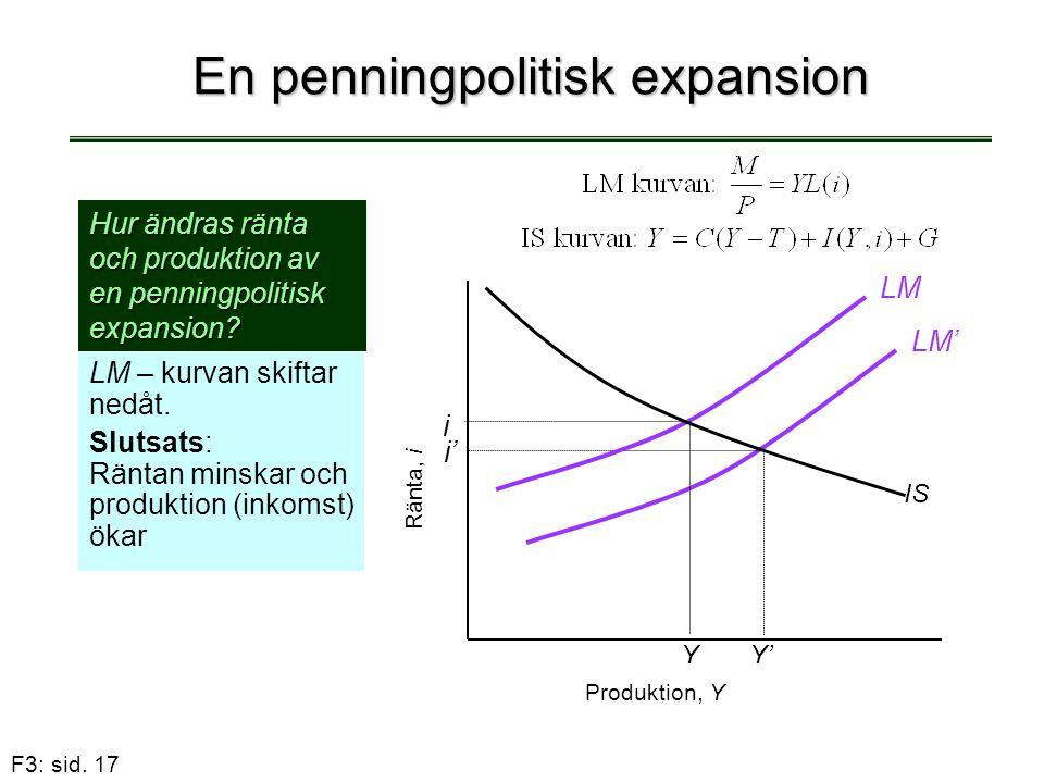 En penningpolitisk expansion