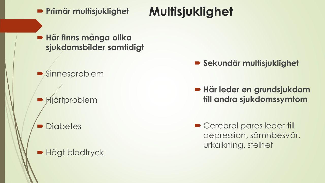 Multisjuklighet Primär multisjuklighet
