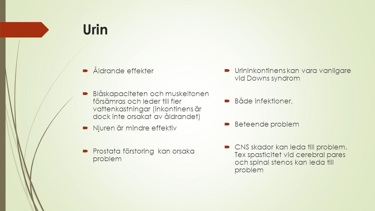Urin Åldrande effekter