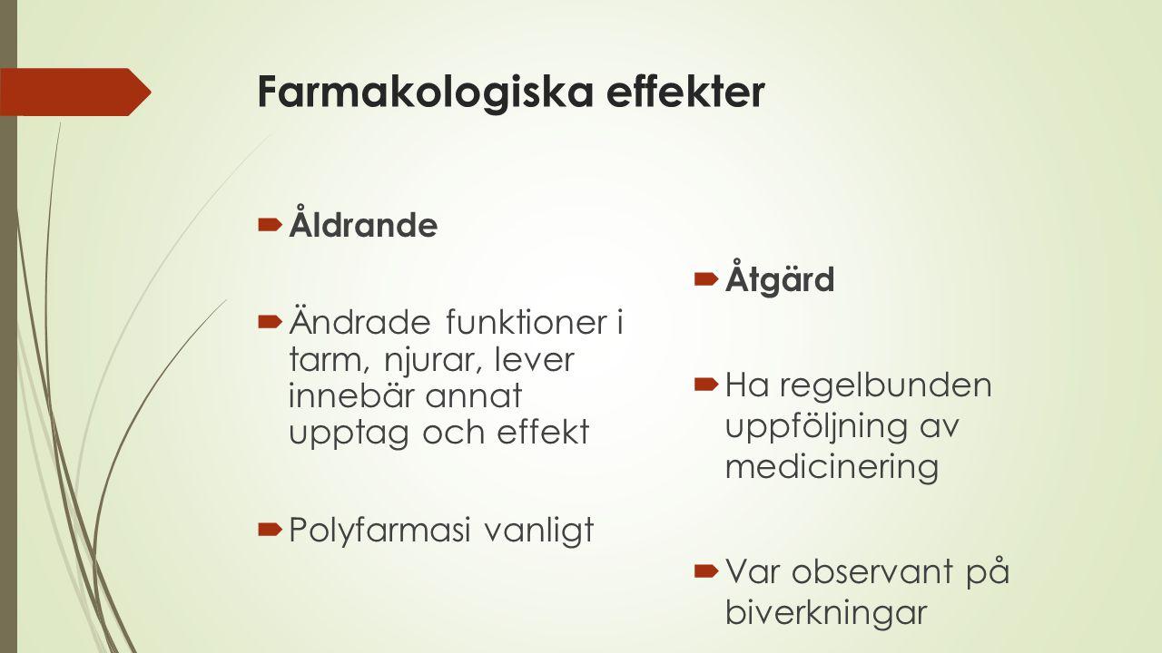 Farmakologiska effekter