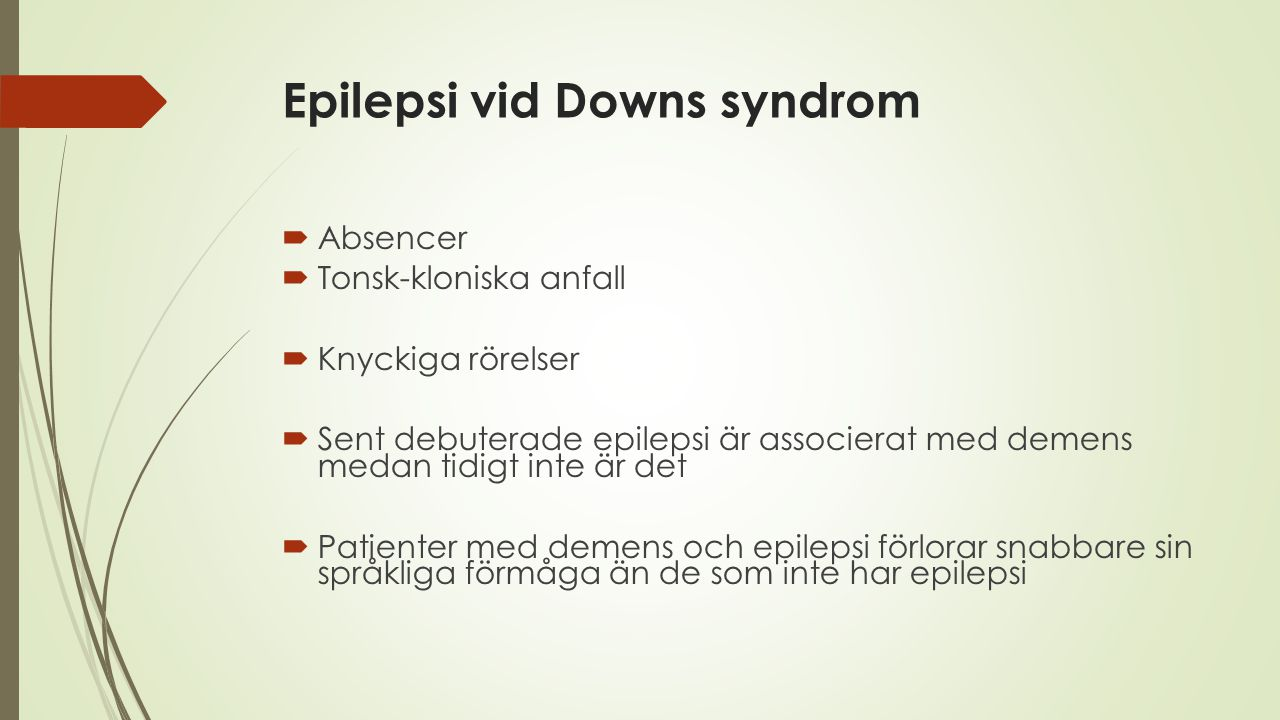 Epilepsi vid Downs syndrom