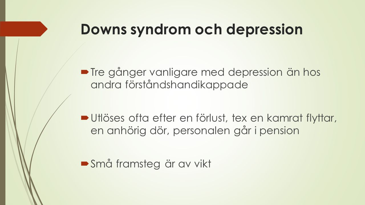 Downs syndrom och depression
