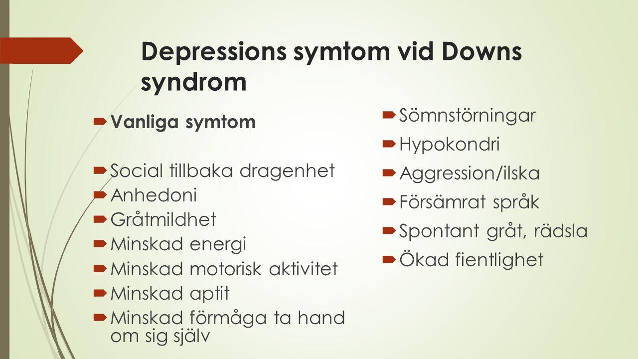 Depressions symtom vid Downs syndrom