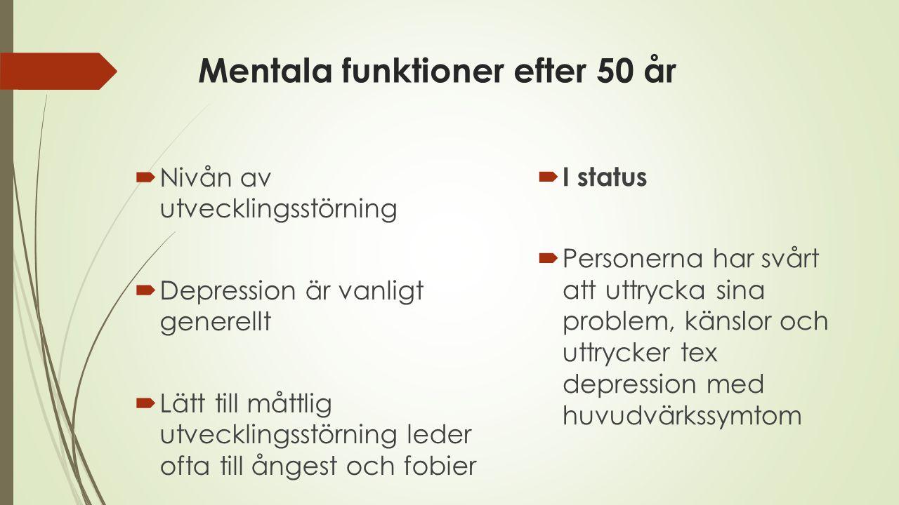 Mentala funktioner efter 50 år