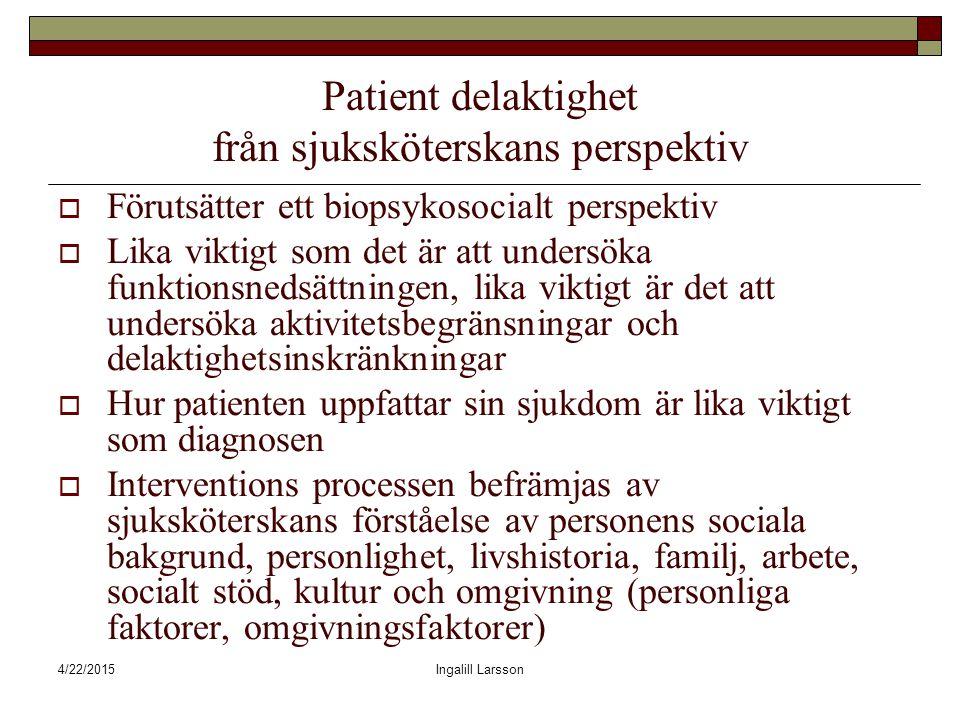 Patient delaktighet från sjuksköterskans perspektiv