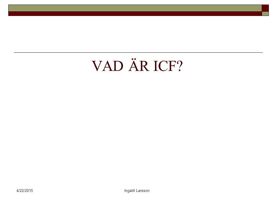 VAD ÄR ICF 4/14/2017 Ingalill Larsson