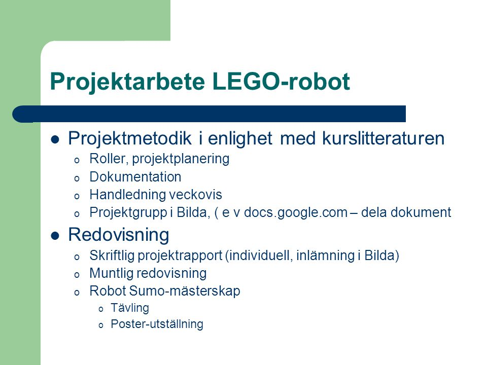 Projektarbete LEGO-robot