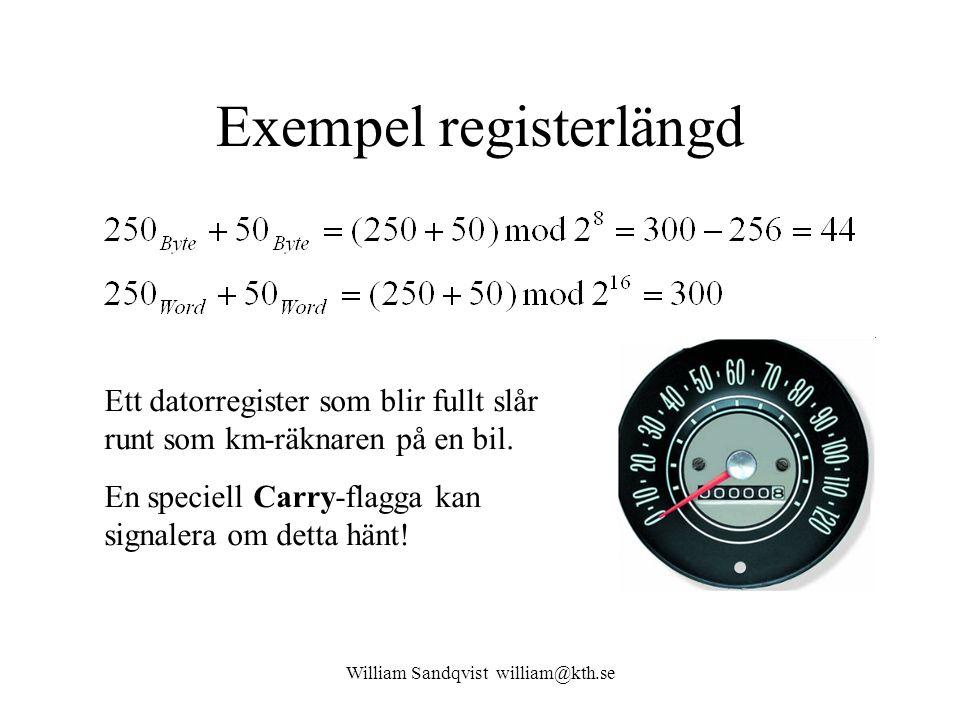 Exempel registerlängd