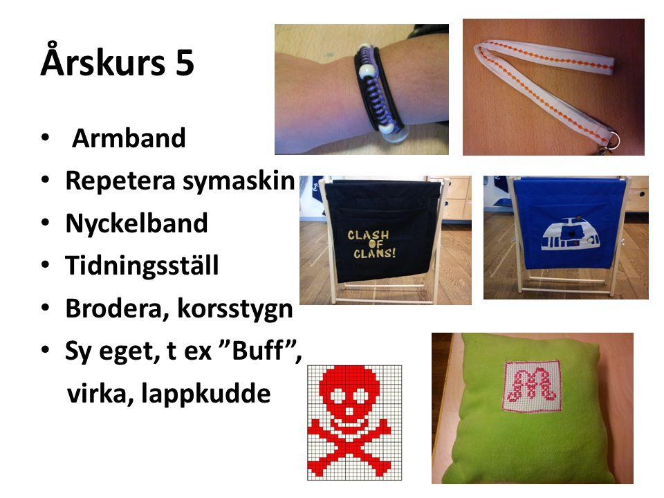 Årskurs 5 Armband Repetera symaskin Nyckelband Tidningsställ