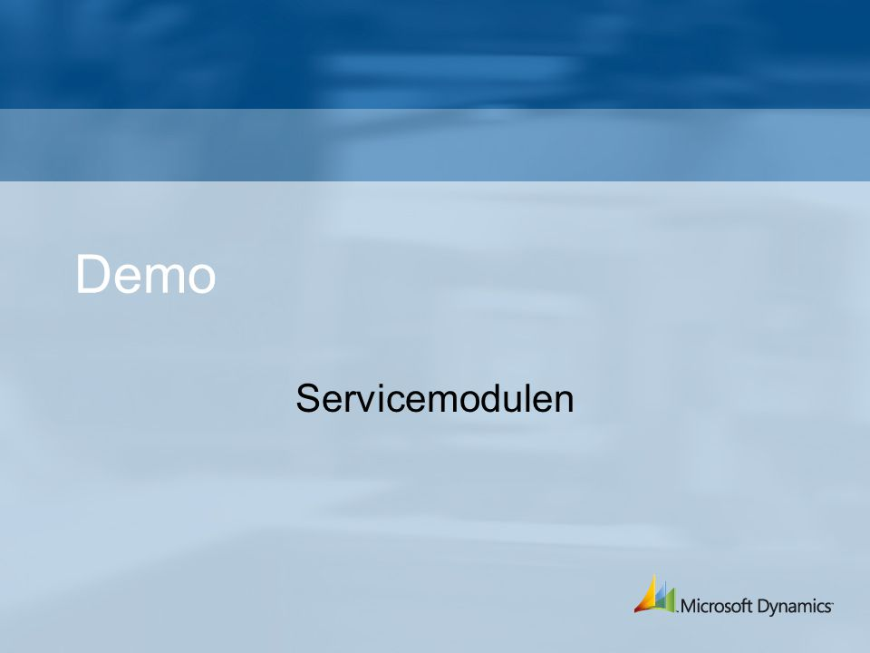 Demo Servicemodulen
