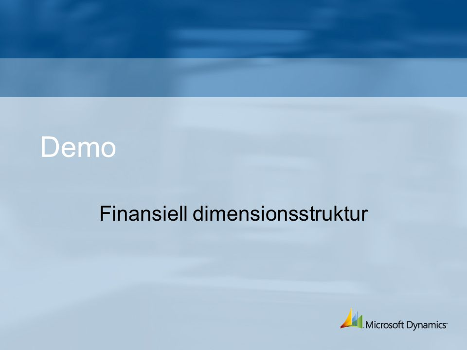Finansiell dimensionsstruktur