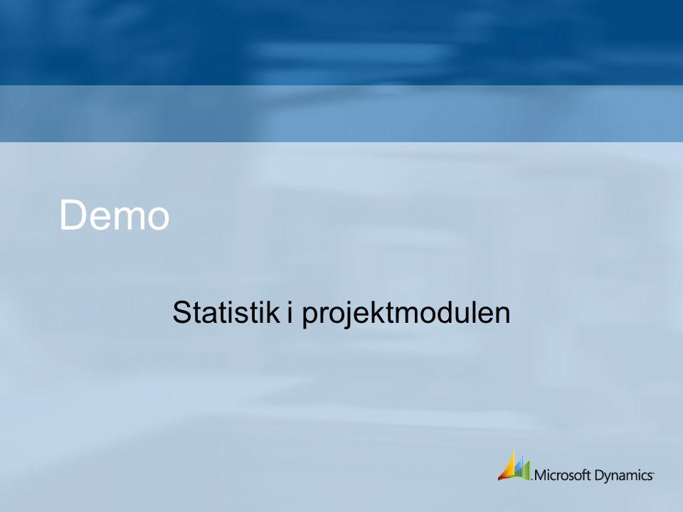Statistik i projektmodulen