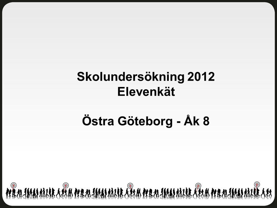 Skolundersökning 2012 Elevenkät Östra Göteborg - Åk 8