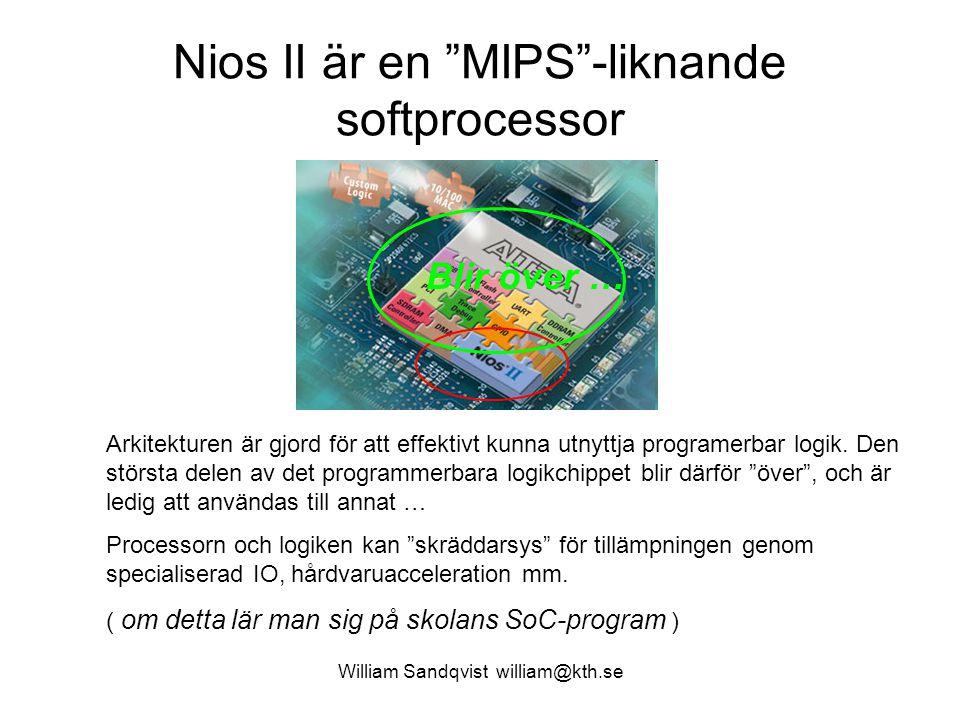 Nios II är en MIPS -liknande softprocessor