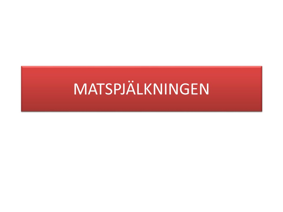 MATSPJÄLKNINGEN