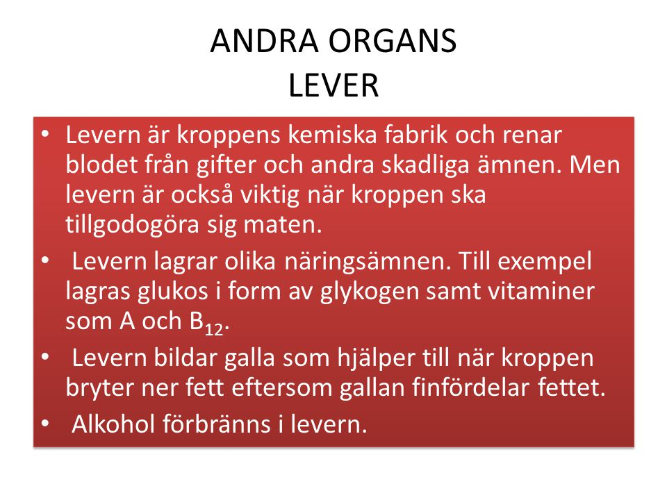 ANDRA ORGANS LEVER
