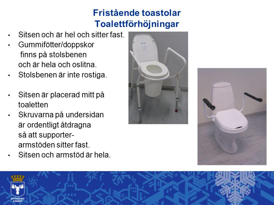 Fristående toastolar Toalettförhöjningar