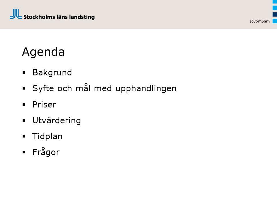 Agenda Bakgrund Syfte och mål med upphandlingen Priser Utvärdering