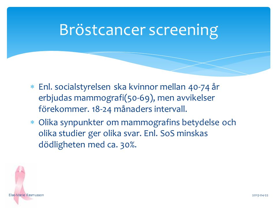 Bröstcancer screening