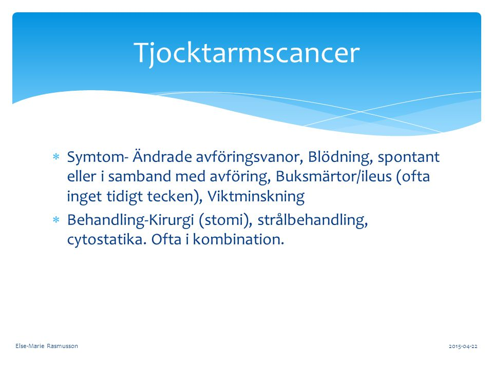 Tjocktarmscancer