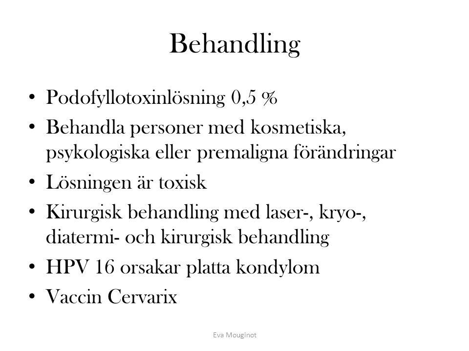 Behandling Podofyllotoxinlösning 0,5 %
