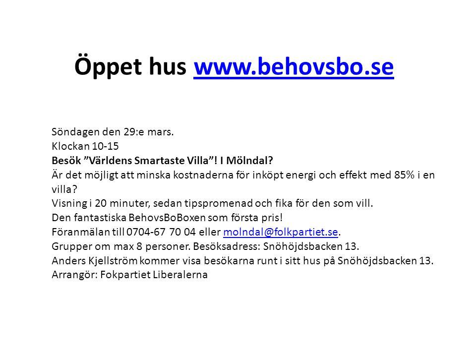 Öppet hus www.behovsbo.se