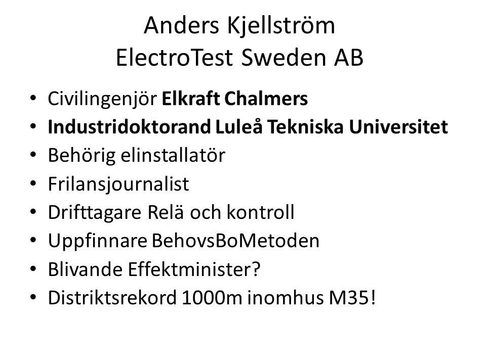 Anders Kjellström ElectroTest Sweden AB