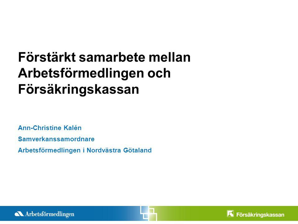 Förstärkt samarbete mellan Arbetsförmedlingen och Försäkringskassan