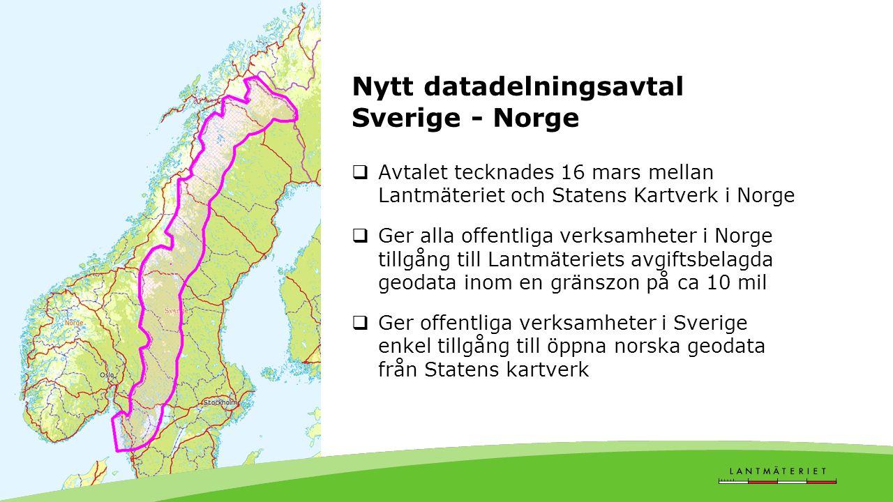 Nytt datadelningsavtal Sverige - Norge