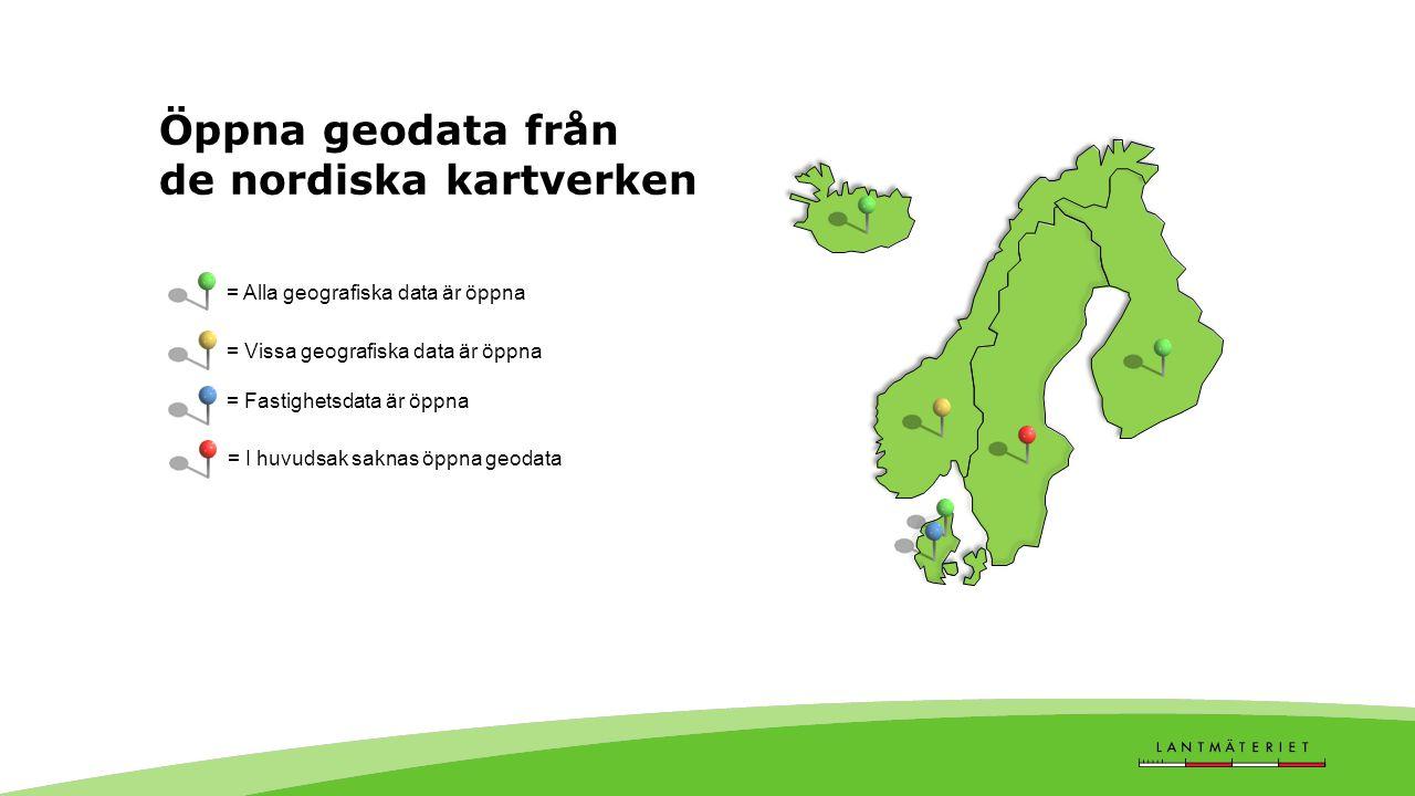 Öppna geodata från de nordiska kartverken