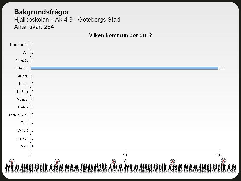 Bakgrundsfrågor Hjällboskolan - Åk 4-9 - Göteborgs Stad