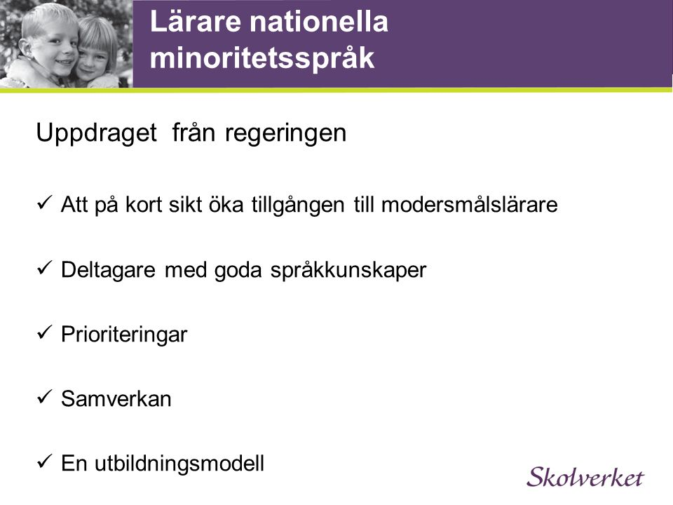 Lärare nationella minoritetsspråk