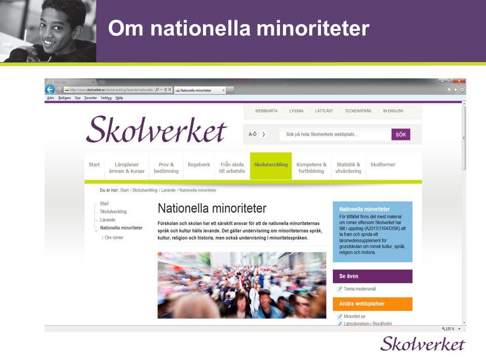 Om nationella minoriteter