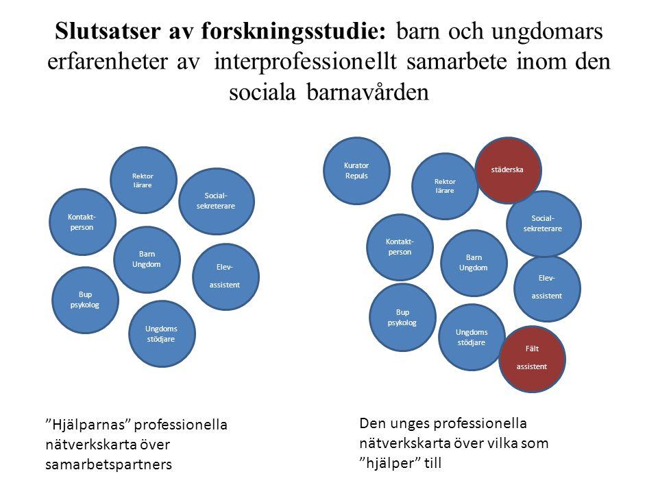 Slutsatser av forskningsstudie: barn och ungdomars erfarenheter av interprofessionellt samarbete inom den sociala barnavården