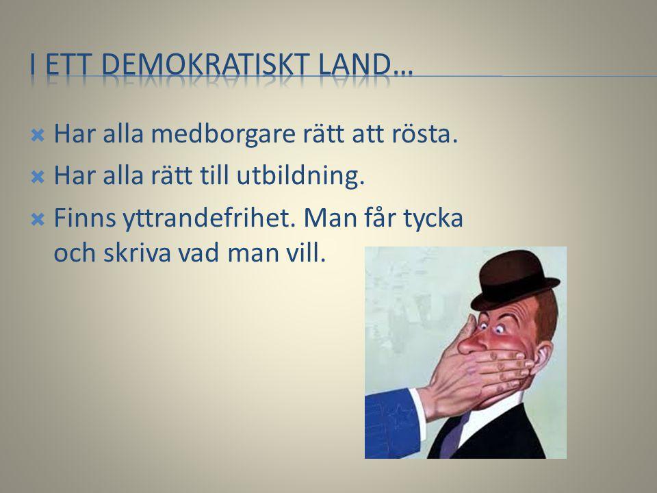 I ett demokratiskt land…
