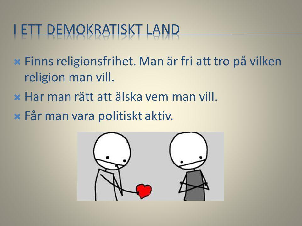 I ett demokratiskt land