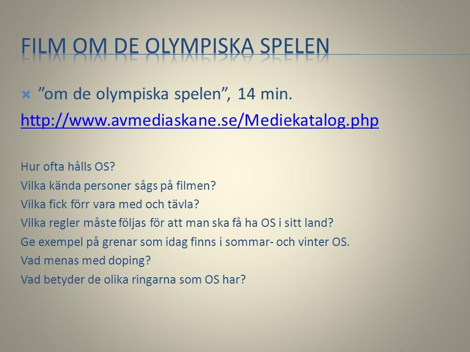 Film om de olympiska spelen