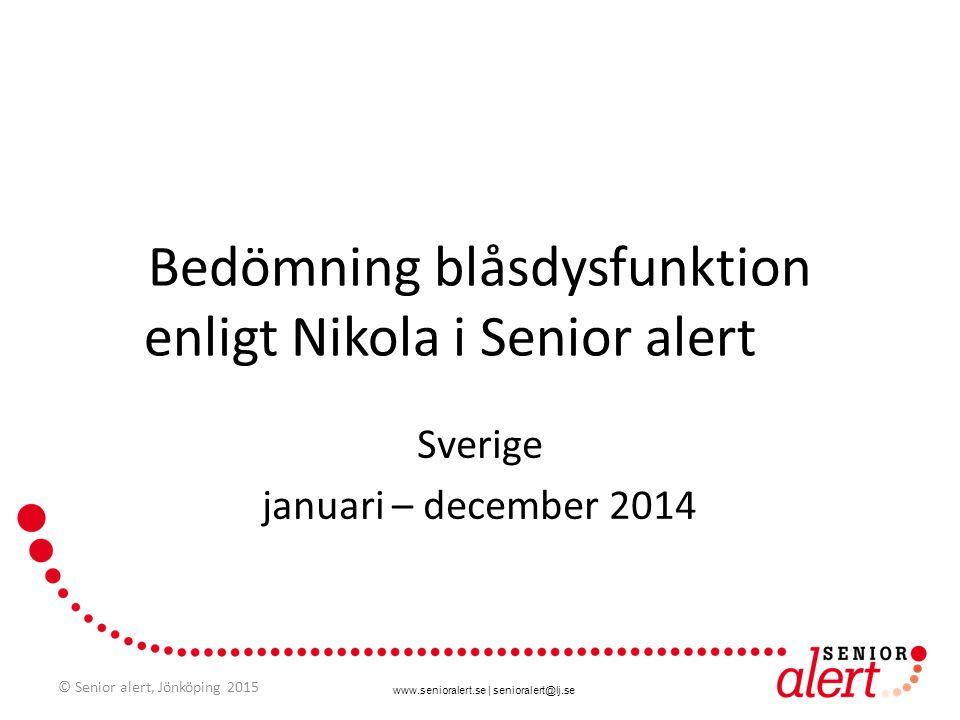 Bedömning blåsdysfunktion enligt Nikola i Senior alert