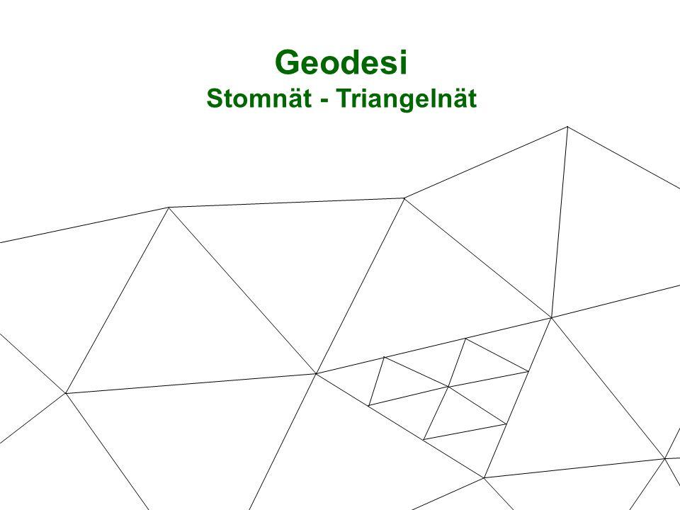 Geodesi Stomnät - Triangelnät