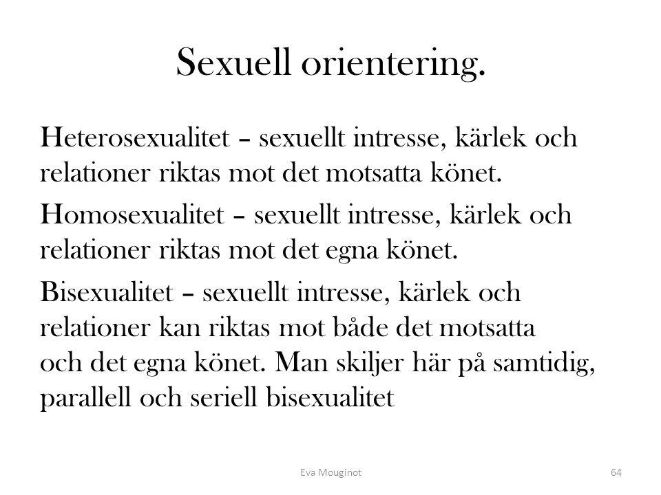 Sexuell orientering.