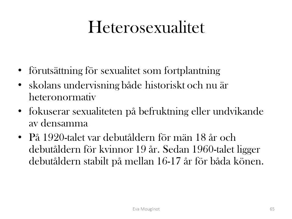 Heterosexualitet förutsättning för sexualitet som fortplantning