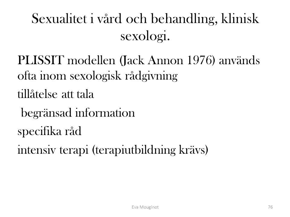 Sexualitet i vård och behandling, klinisk sexologi.