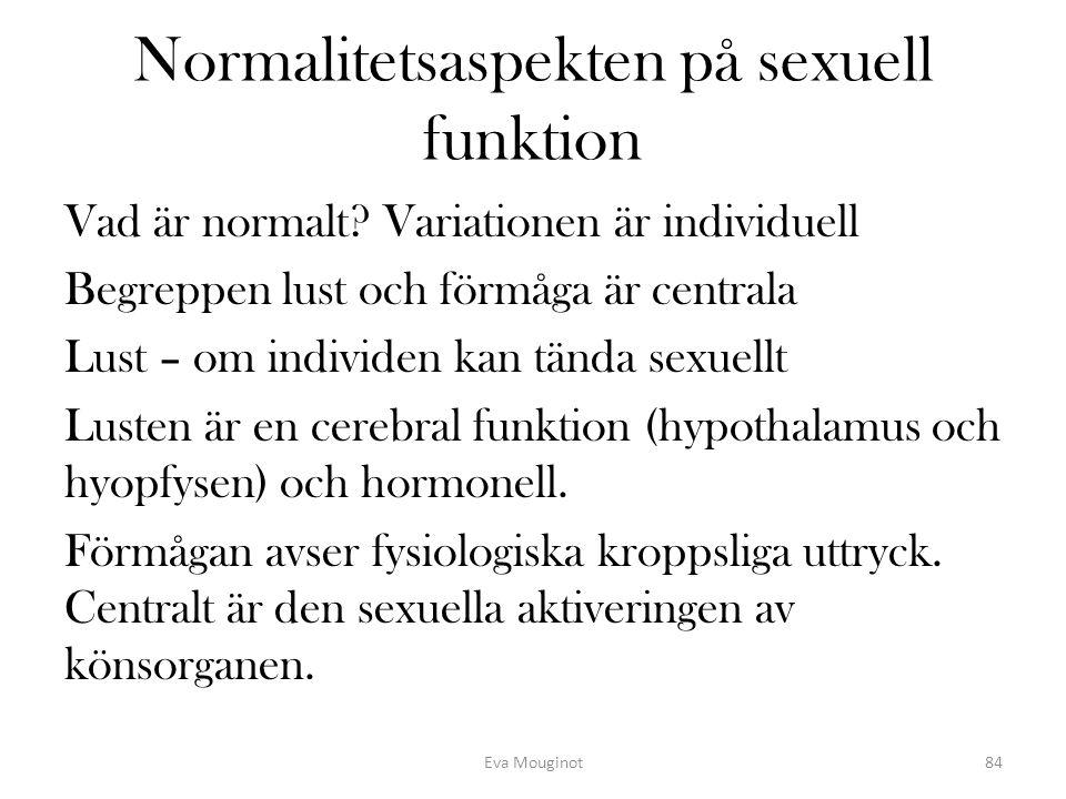 Normalitetsaspekten på sexuell funktion