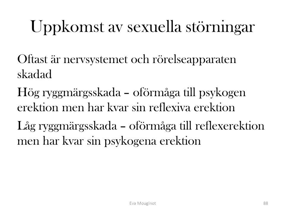 Uppkomst av sexuella störningar